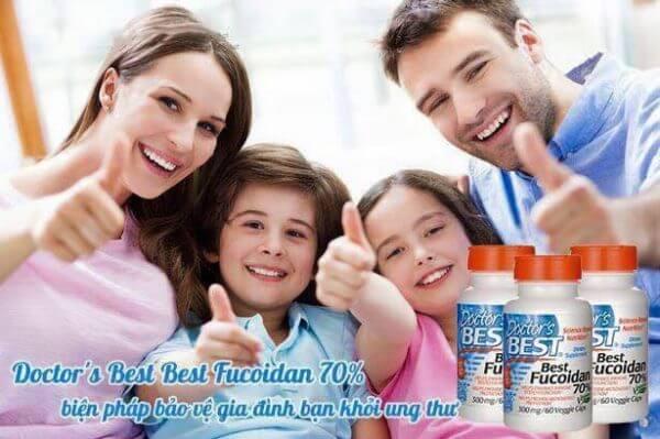 Doctor's best fucoidan 70 bảo vệ cả gia đình khỏi ung thư