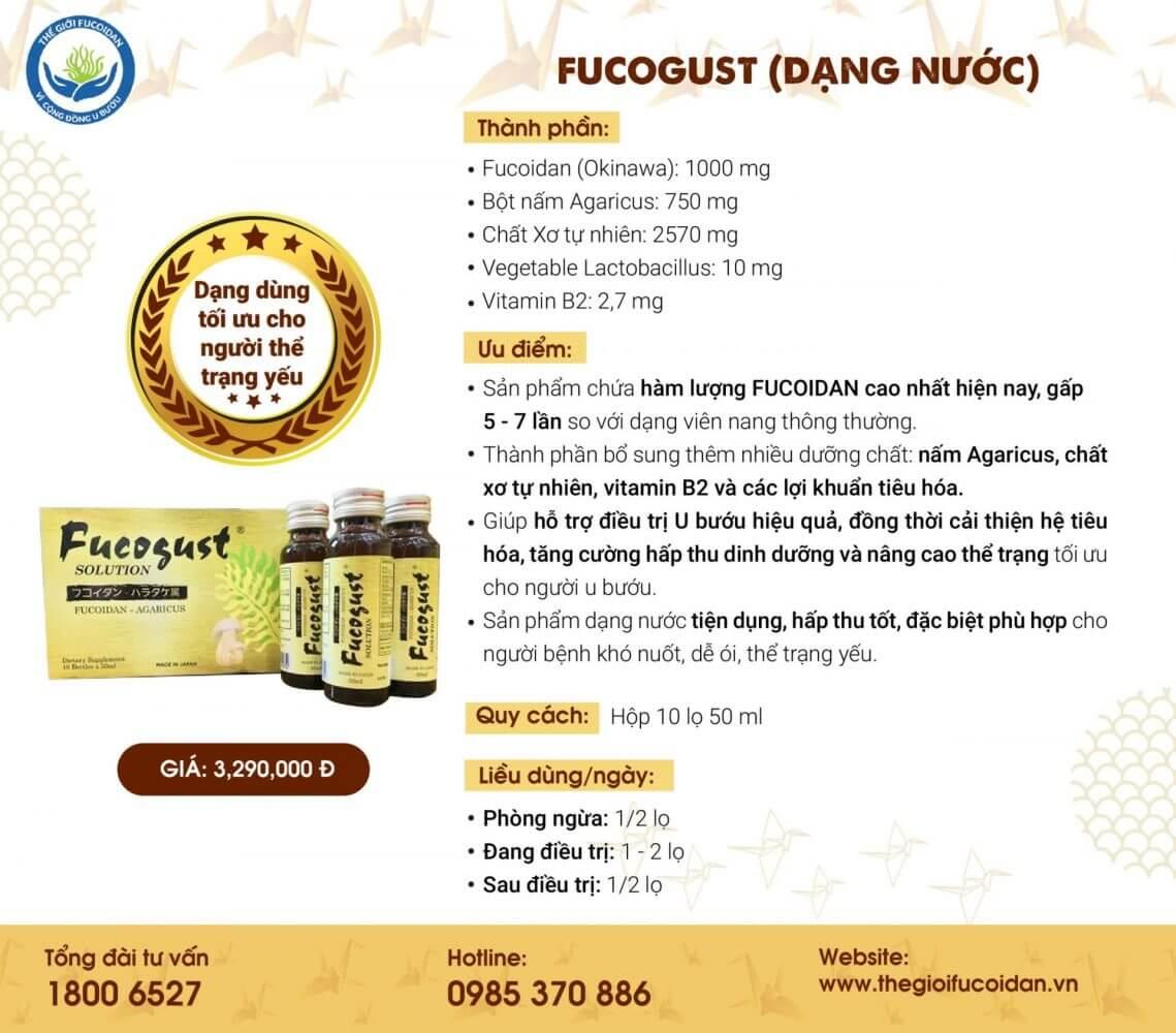 Fucogust dạng nước: Fucoidan vàng hàm lượng cao, đảm bảo chất lượng, chi phí sử dụng tốn kém