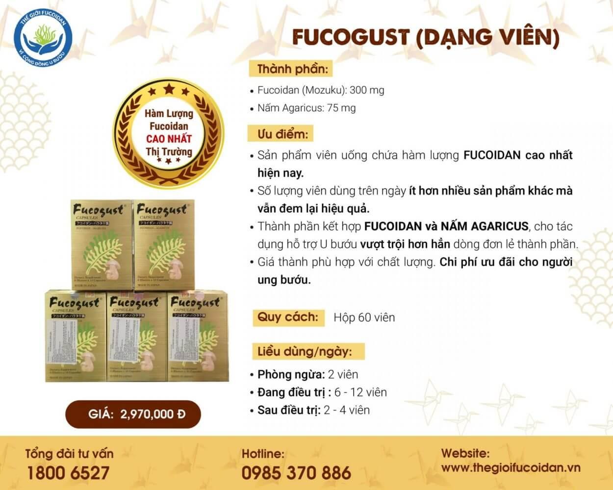 Fucogust Nhật Bản: Fucoidan thế hệ mới với hàm lượng cao, chất lượng tốt