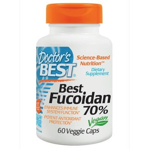 Doctor's best fucoidan 70%: tảo nâu Trung Quốc, tinh khiết, không biến đổi gen, giá rẻ.