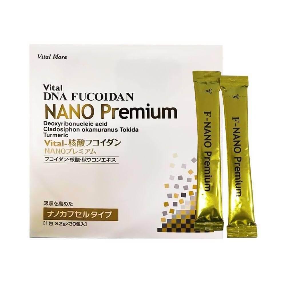 Vital Nucleic Acid Fucoidan Nano Premium: Fucoidan, cá hồi, nghệ mùa thu - sản phẩm Fucoidan của Nhật Bản