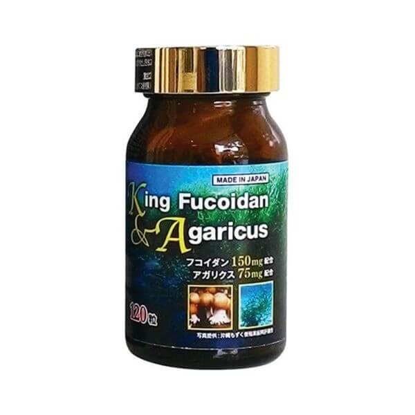 King Fucoidan & Nấm Agaricus 120 Viên Nhật Bản