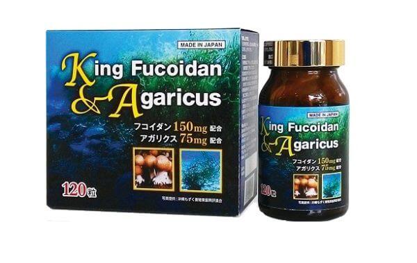 King Fucoidan & Nấm Agaricus 120 Viên Nhật Bản dùng cho người ung thư