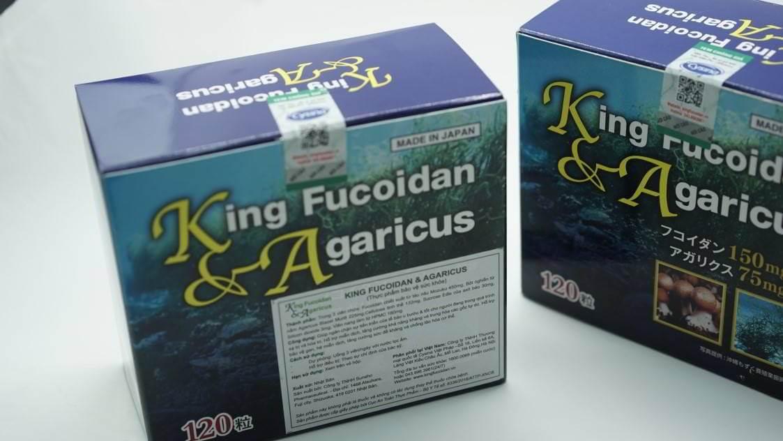 Sản phẩm King Fucoidan chính hãng phải có nhãn phụ