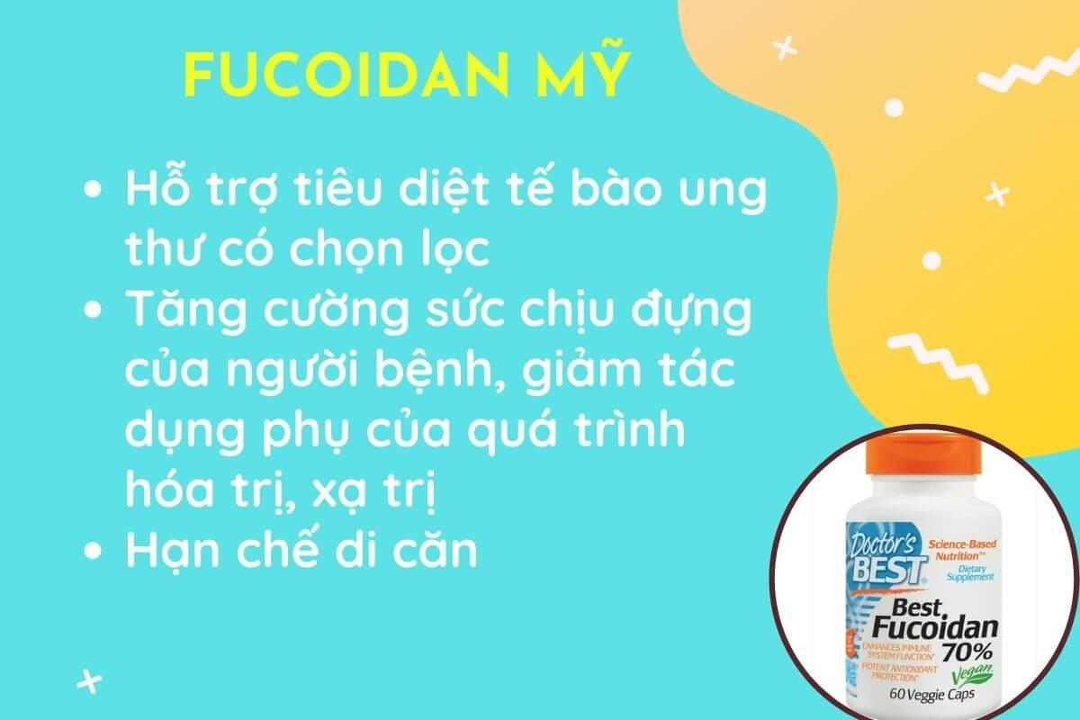 Tảo nâu Fucoidan Mỹ hỗ trợ điều trị ung thư, giá rẻ, hàm lượng cao nhất