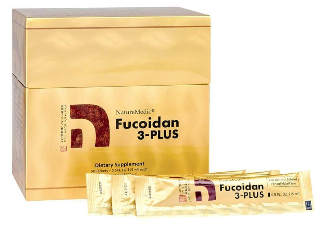 Fucoidan 3 plus dạng nước: thành phần chứa Fucoidan và nấm agaricus hàm lượng cao