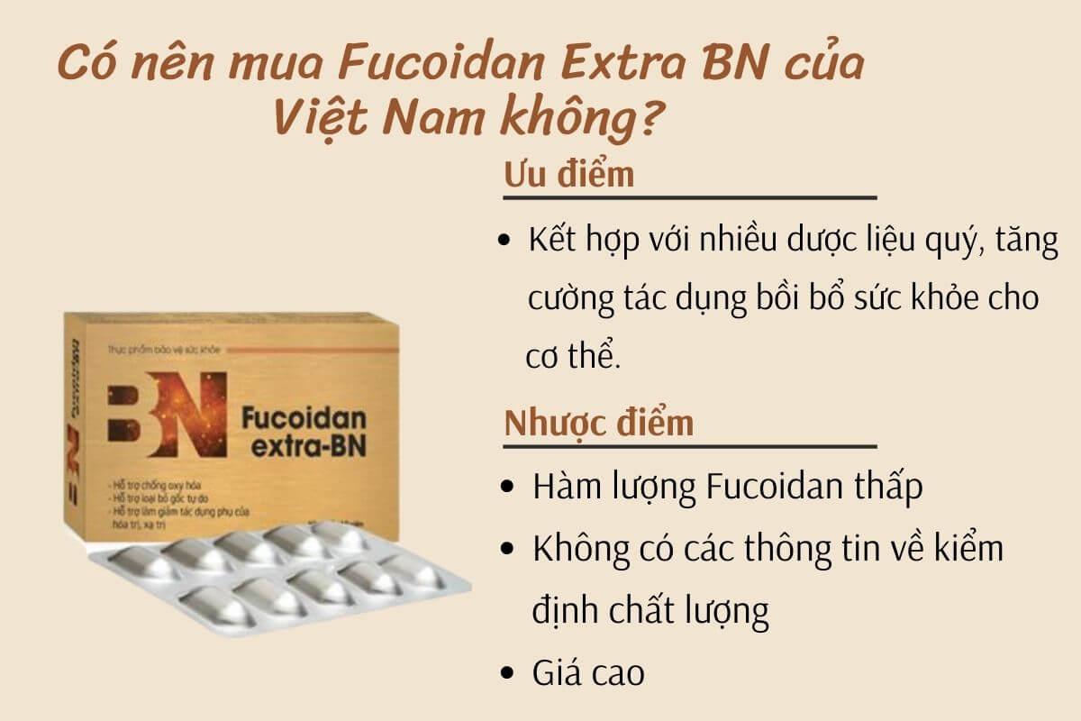 Có nên mua fucoidan extra BN của Việt Nam không?