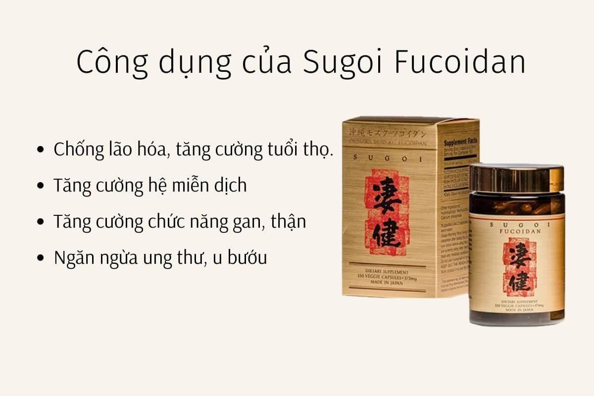 Công dụng của Sugoi Fucoidan