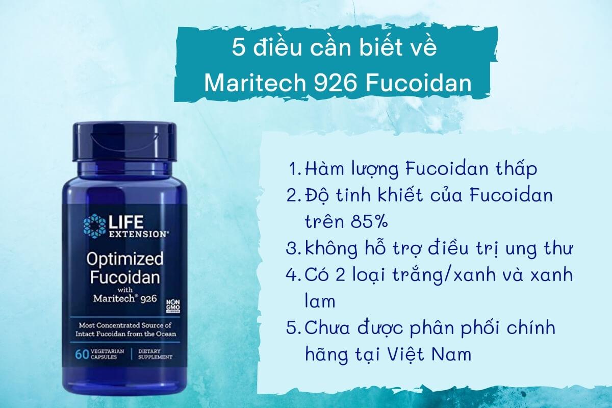 5 điều cần biết về maritech 926 fucoidan