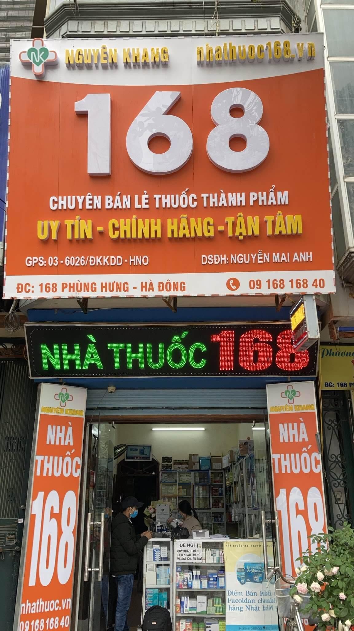 Nhà thuốc Thế giới Fucoidan tại 168 Phùng Hưng, Hà Đông, Hà Nội