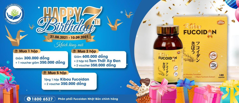 Chương trình khuyến mại Kibou Fucoidan