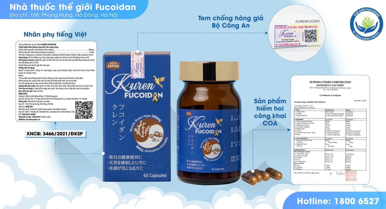 Kuren Fucoidan 2 thành phần